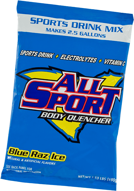 All Sport Body Quencher – Drink Mix – Blue Raz Ice – 2.5 gal
