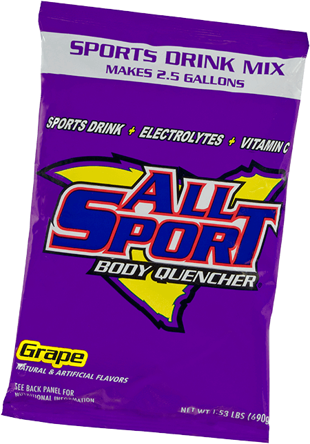 All Sport Body Quencher – Drink Mix – Grape – 2.5 gal