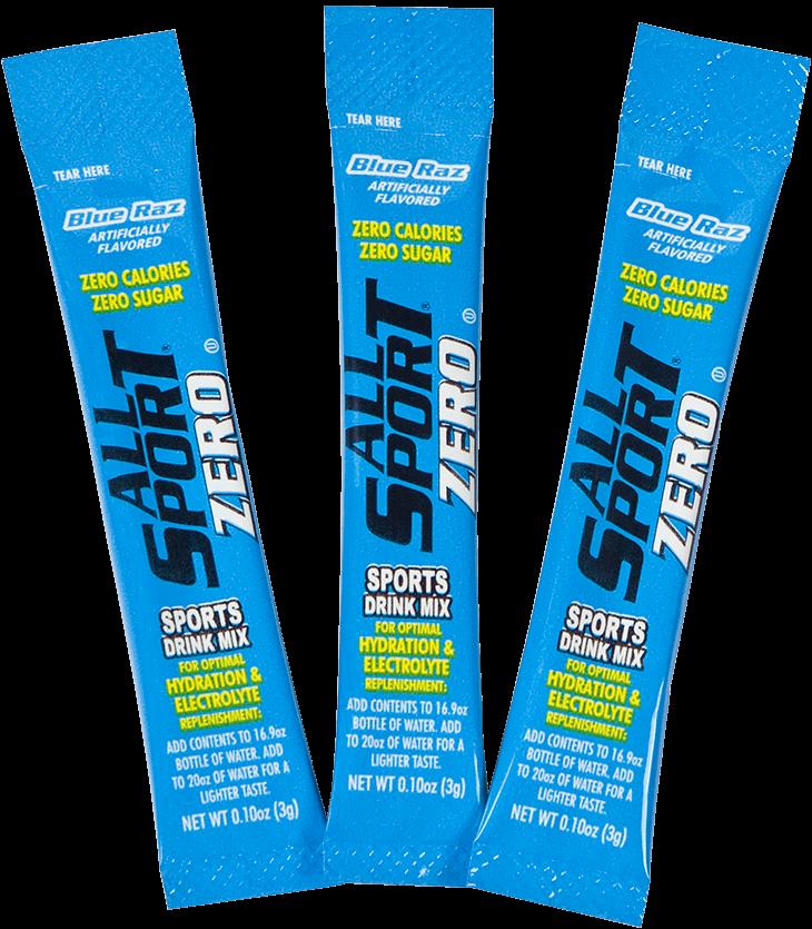 All sport zero sports drink - blue raz